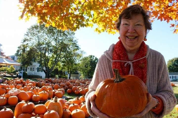 Karen found her perfect pumpkin!