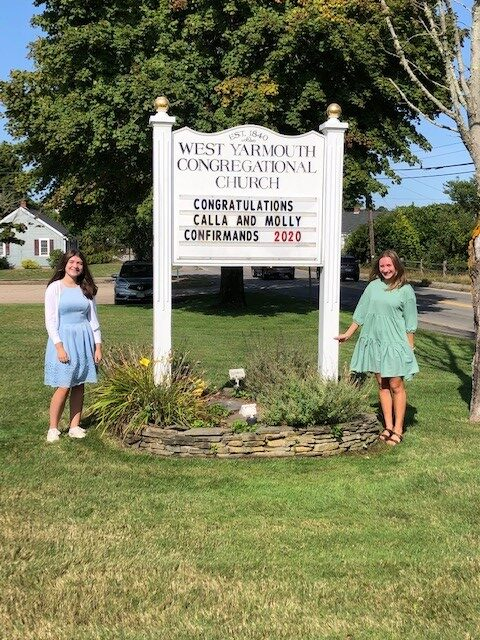 Calla and Molly. Our 2020 Confirmands