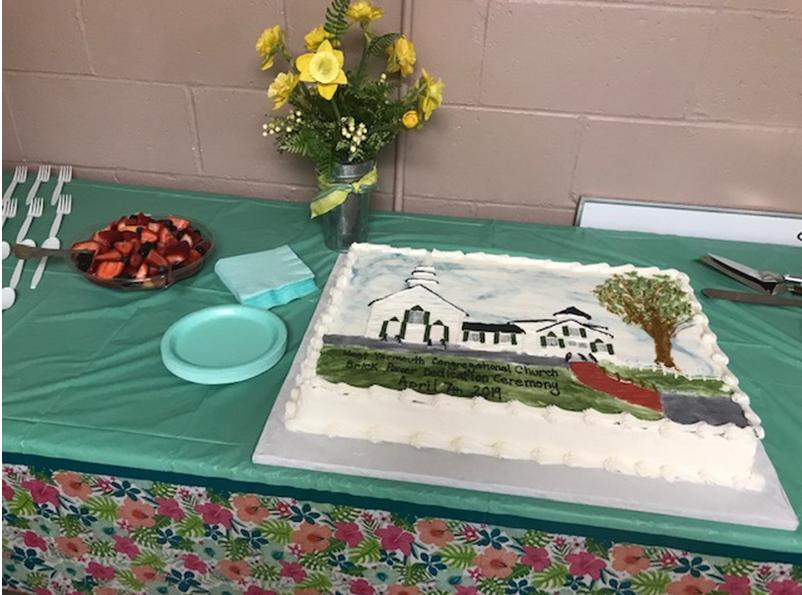 Commemorative Brick Walkway Cake
